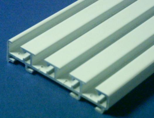 Mecanismo Panel Japones Blanco A Cordon 4 Vias 4 Paneles Aluminio