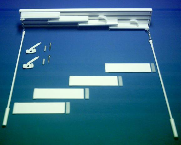 Mecanismo Panel Japones Blanco Manual 4 Vias 4 Paneles Aluminio